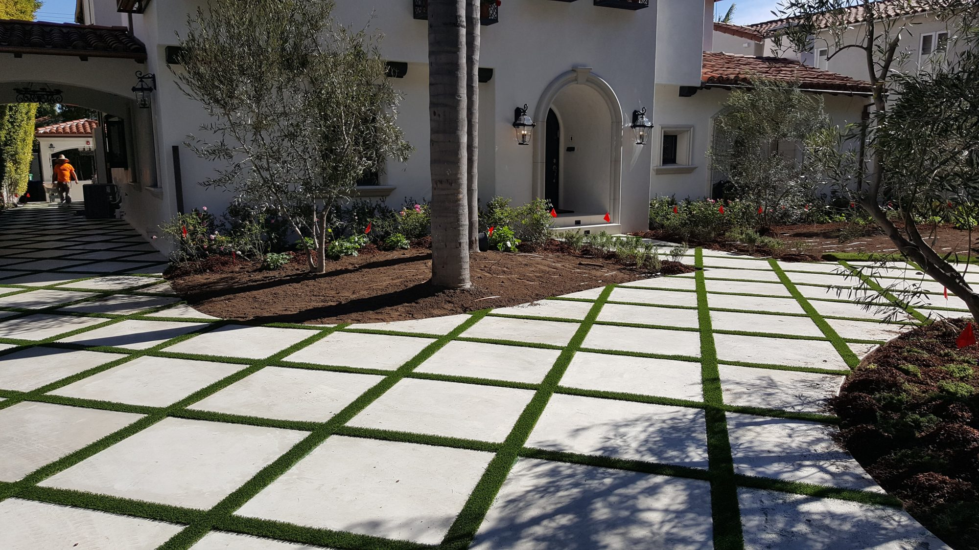 Image of Extravagent House and Turf Strip Driveway