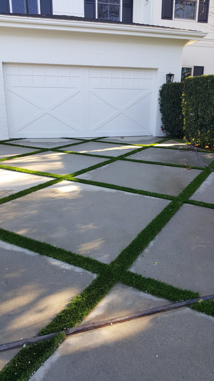 Image of Driveway Strip Turf In Front Of Garage