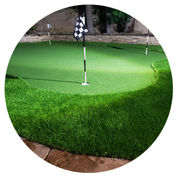 Image of putting green with turf grass