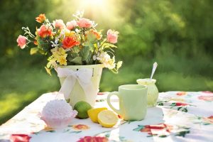 Georgia flowers lemons picnic sunny