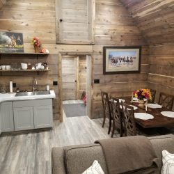 Modern Cabin Kitchen Accommodations for Guided Hunting Stay