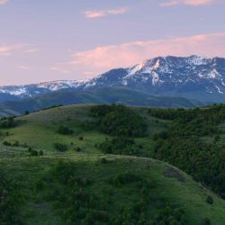 Sunset Lookout of Mountains on Utah Ranch