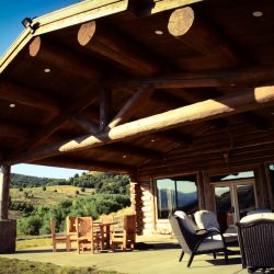 Guided Hunt Cabin Patio Overlook