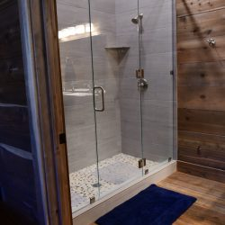 Modern Shower at Hunting Cabin Retreat