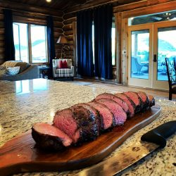 Prime Cuts of Meat at Elk and Bison Hunting Stay
