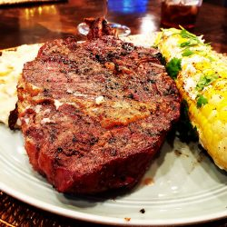 Savory Dinner Provided at Guided Hunting Ranch Stay