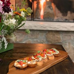 Delicious Gourmet Bruschetta Appetizer at Utah Elk Hunt Ranch