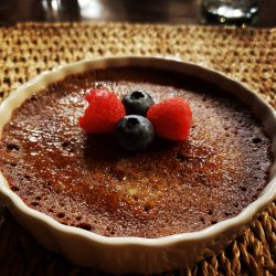 Chef Prepared Dessert Provided at Guided Bison Hunting Cabin Stay