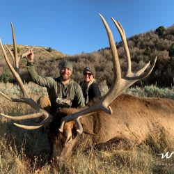 A Pair Of Proud Hunters Take Down Large Trophy Elk in Utah | West Canyon Ranch