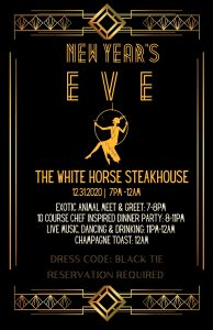 New Year's Eve at Oak Meadow Ranch - The Whitehorse Steakhouse