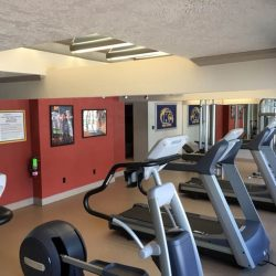 Treadmills in our fitness center at Kent's Best Apartments