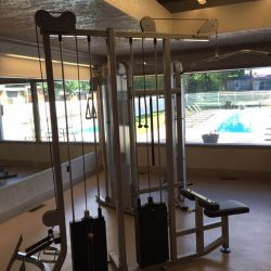 Weights equipment in our gym at Kent's Best Apartments