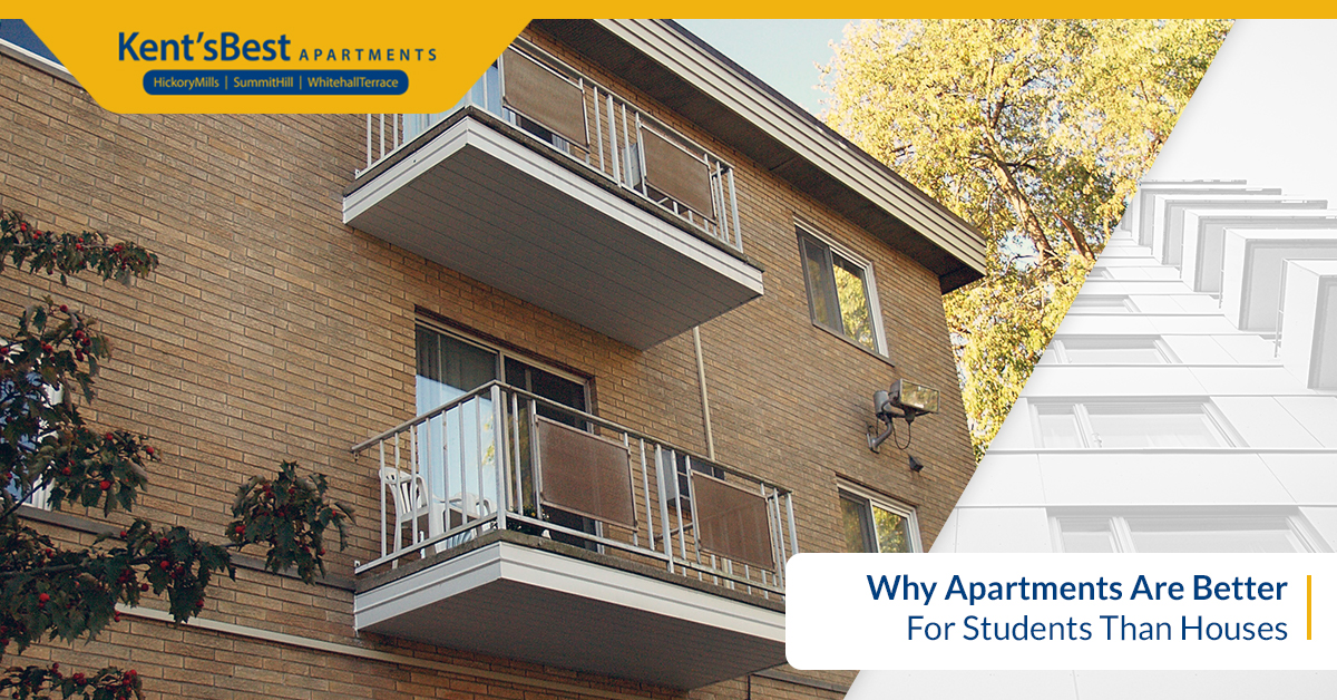 Why Apartments Are Better For Students Than Houses
