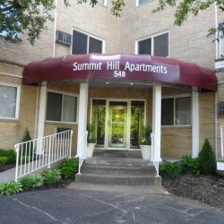 Entryway to Summit Hill Apartments - Kent's Best Apartments