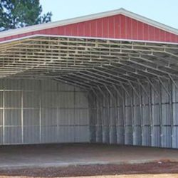 Open Faced Metal Horse Barn