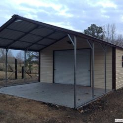 Enclosed Metal Garage with Window, Rolling Garage Door, and Walk-Thru Door,