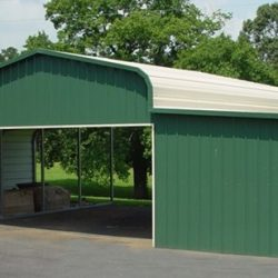 Metal Horse Barn with Gabled Ends