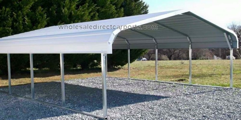 standard carport custom options wholesale direct carports. Black Bedroom Furniture Sets. Home Design Ideas