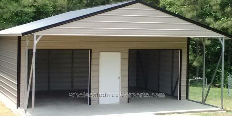 Carport Enclosed With Windows : Standard carport custom options wholesale direct carports