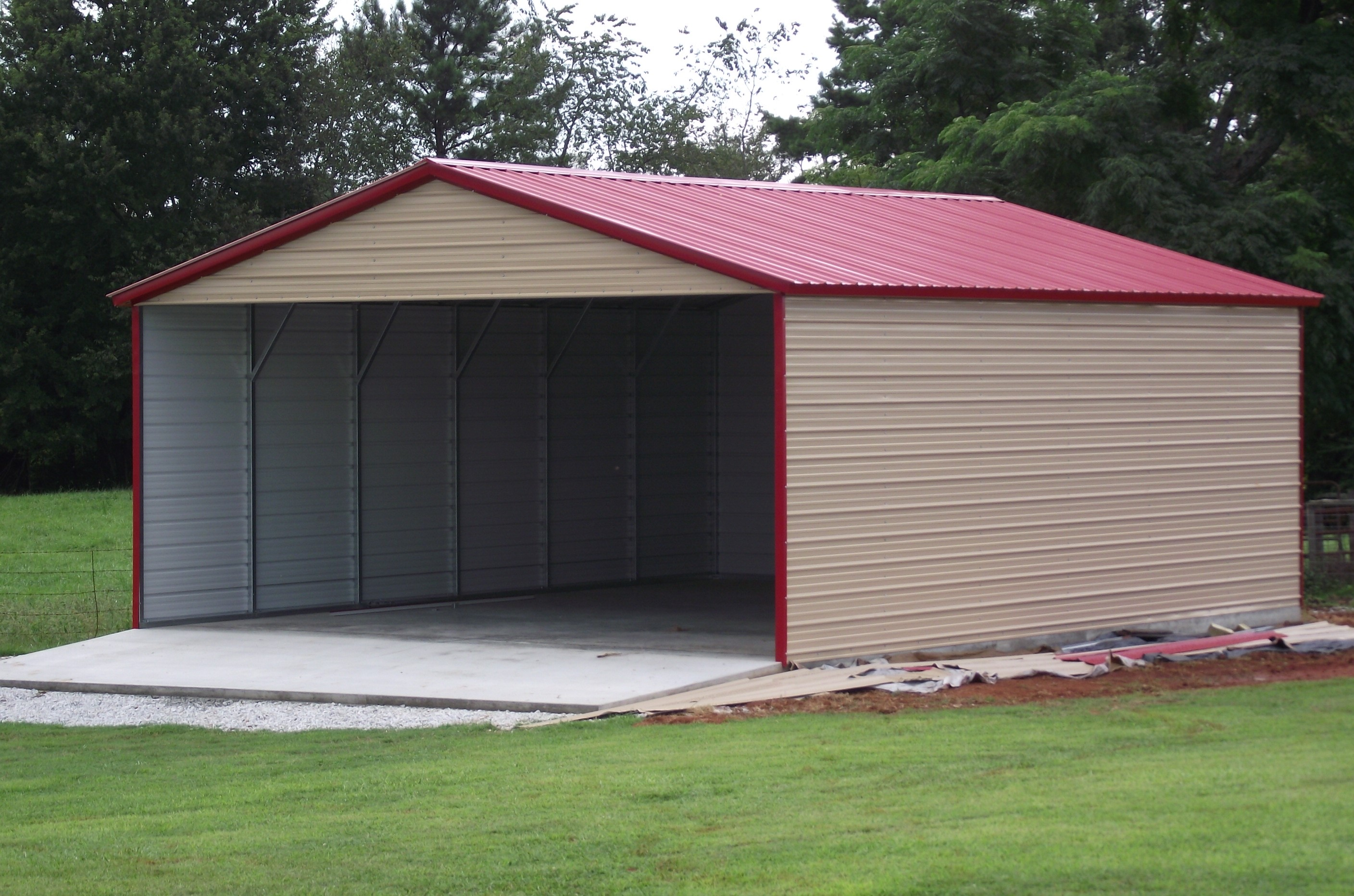 Standard carport custom options wholesale direct carports for Attached garage kits