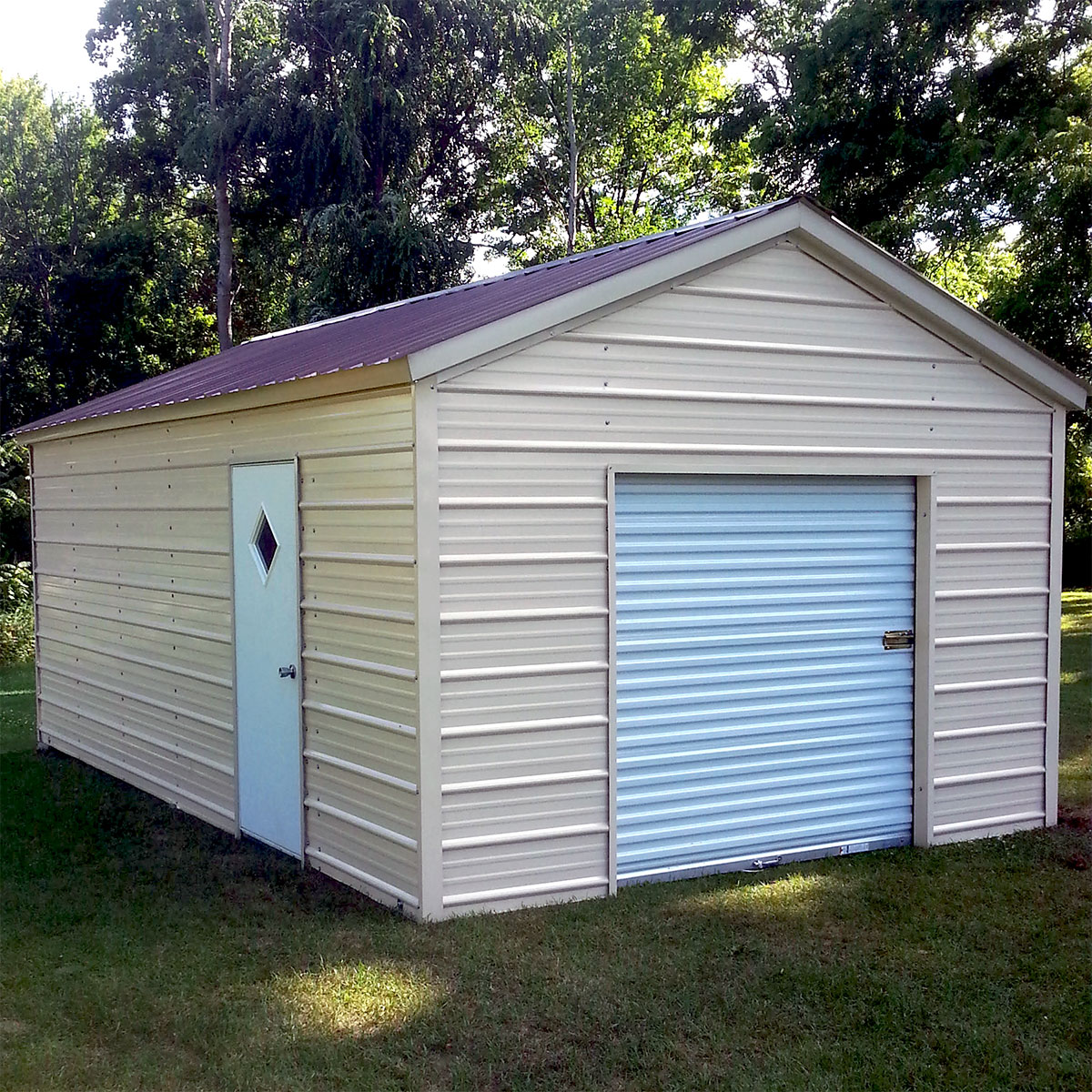 Enclosed garage customization options wholesale direct for Cost to build a single car garage
