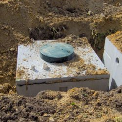 Dose tank uncovered from the surface