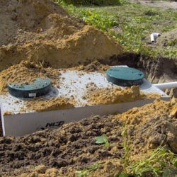 Image of septic system uncovered