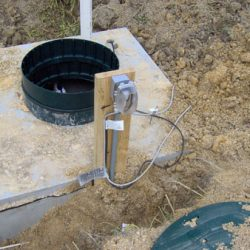Image of septic tank with installed pump