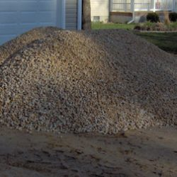 Willey Co. heavy stone pile