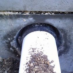 Image of sealed septic tank piping