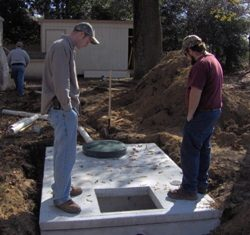 Complete installation of septic tanks by the Willey Company