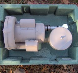 Interior top view of septic tank