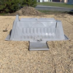 IcoFlow unit resting in gravel