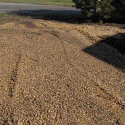 Image of gravel smoothed out for work