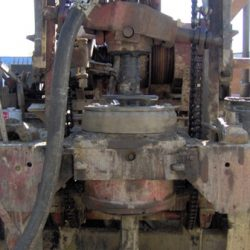 Close up of well drilling machinery