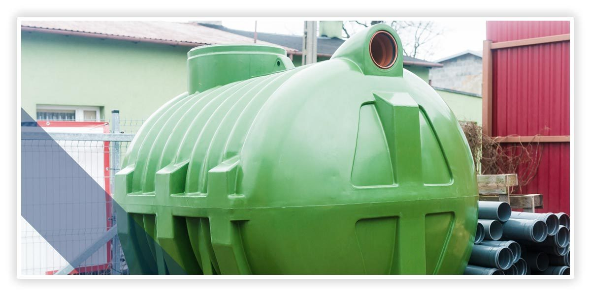 Image of green septic tank