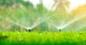 Image of Working Sprinkler System