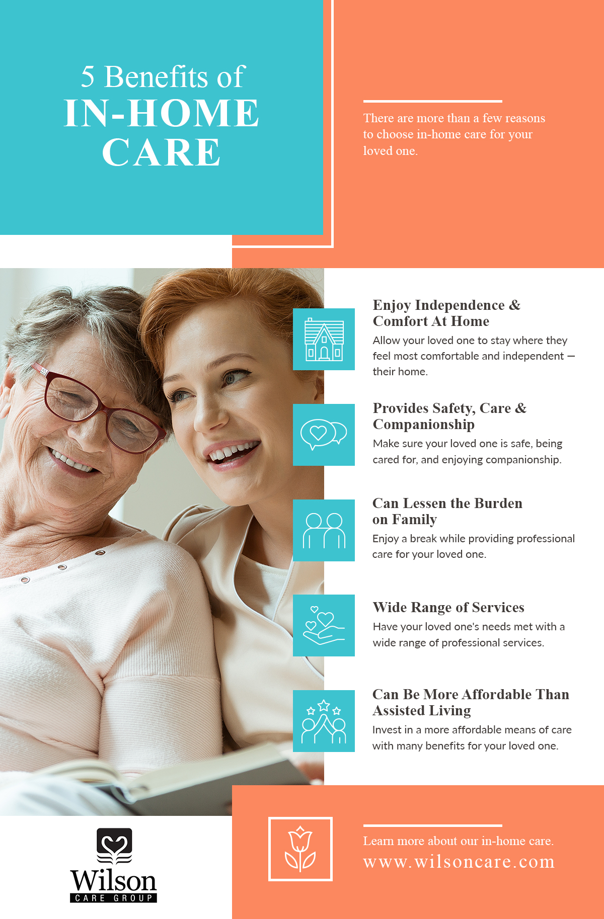Infographic: 5 Benefits of In-Home Care