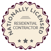 Nationally licensed residential contractor graphic