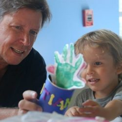 A father and son at our daycare - Wonder Years Learning Center