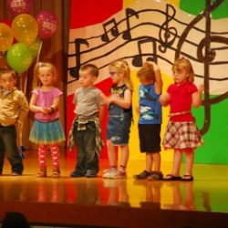 Group of children performing at our learning center - Wonder Years Learning Center
