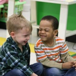 two boys making faces at our daycare - Wonder Years Learning Center