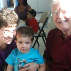 Boy with grandparents at our child care - Wonder Years Learning Center
