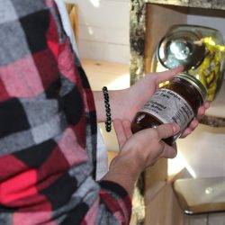 Image of Man Holding Mason Jar