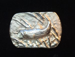 Trout Belt Buckle Solid Silver.  Signed and limited edition of only 50 $350