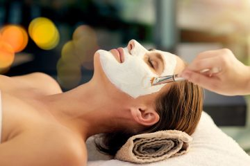 Shot of a young woman getting a medspa facial treatment at a spa