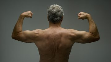Senior male in great shape. Benefits of Testosterone concept