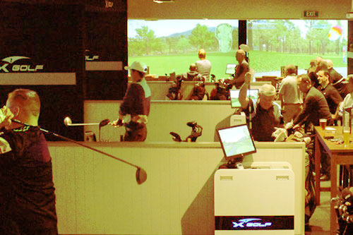 Image of a busy X-Golf during a weekly tournament