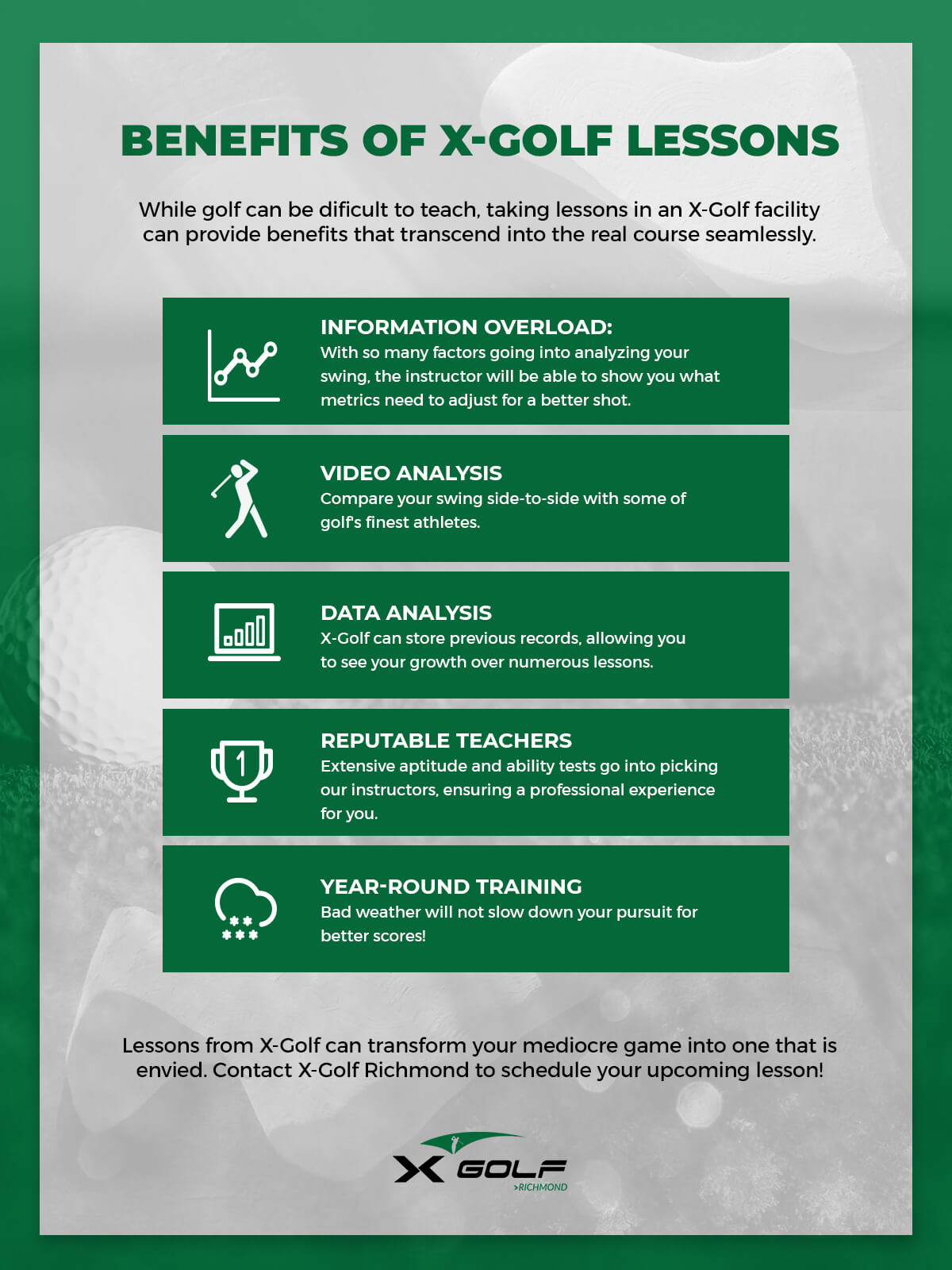 Benefits of X Golf Lessons