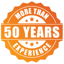 more than 50 yrs experience badge